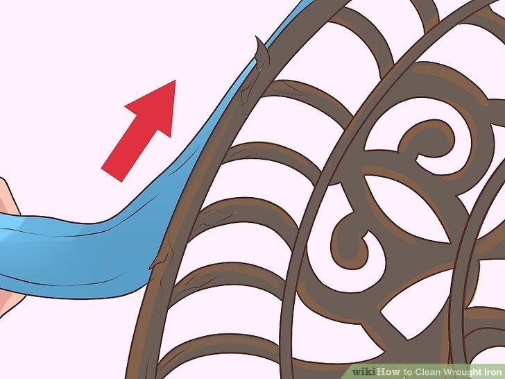 Entfernen Sie nicht schmiedeeiserne Materialien von Ihrem Artikel.