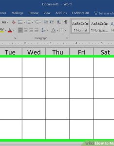 Image titled make  calendar in word step also how to with pictures wikihow rh