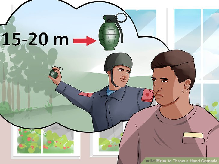 Know the lethal range of your grenade.