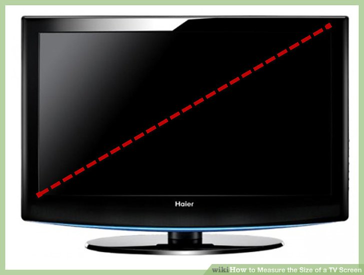 How to Measure the Size of a TV Screen 7 Steps with