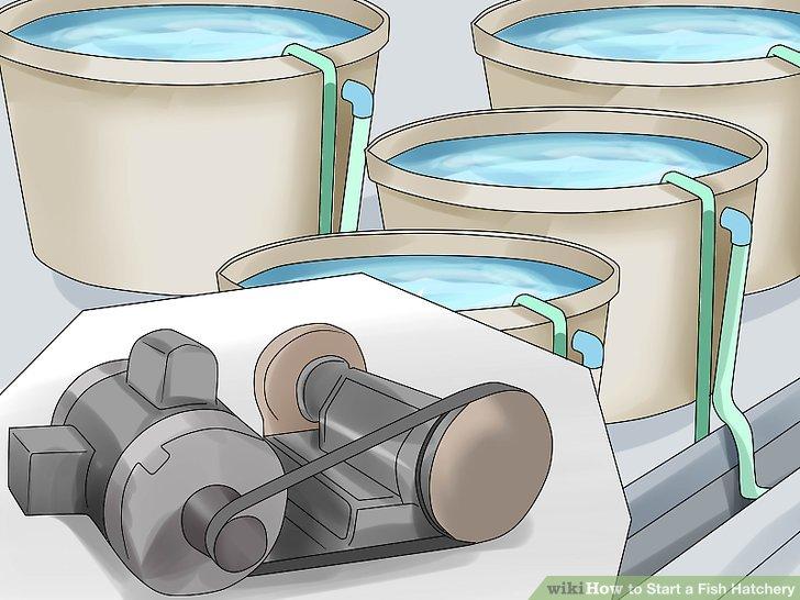 Installieren Sie eine Pumpe und eine Belüftungsanlage.