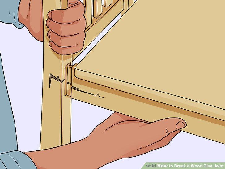 Verwenden Sie diese Methode, wenn Sie nichts dagegen haben, das Holz zu zerstören.