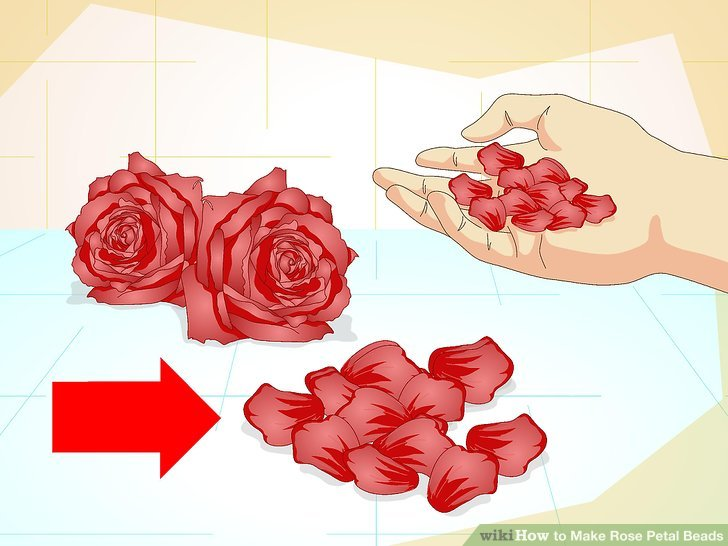 How To Make Rose Petal Beads 15 Steps With Pictures