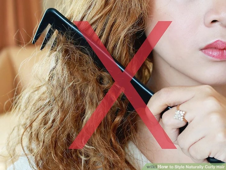 How To Style Naturally Curly Hair With Pictures Wikihow