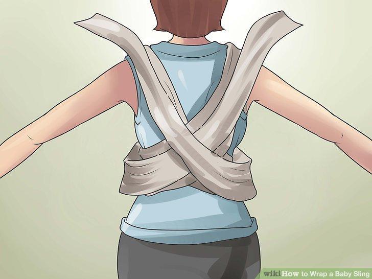Wickle die Schlinge wieder um deinen Rücken.