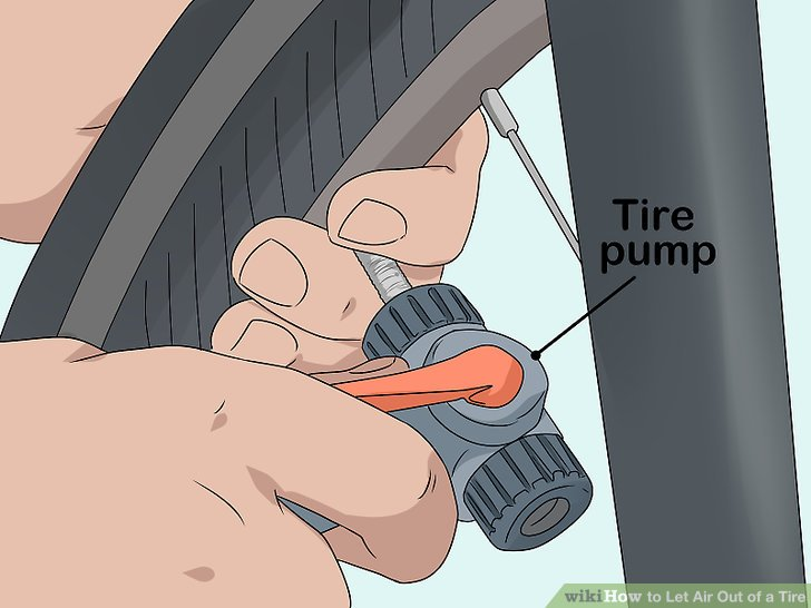 Befestigen Sie das Ende Ihrer Reifenpumpe an Ihrem Reifen.