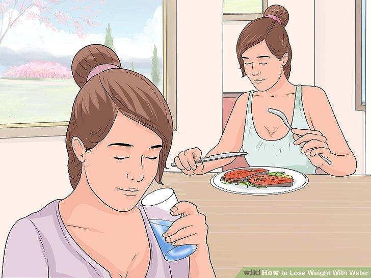 Trinken Sie vor jeder Mahlzeit ein Glas Wasser.