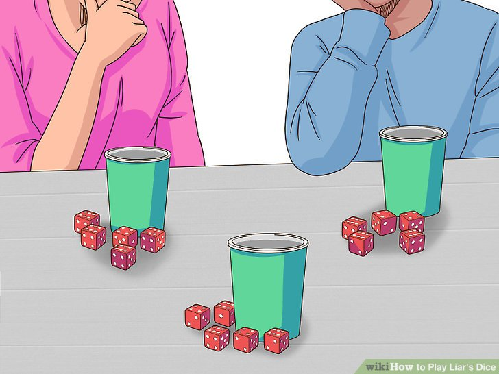 Hand each player 5 dice along with a dice cup.