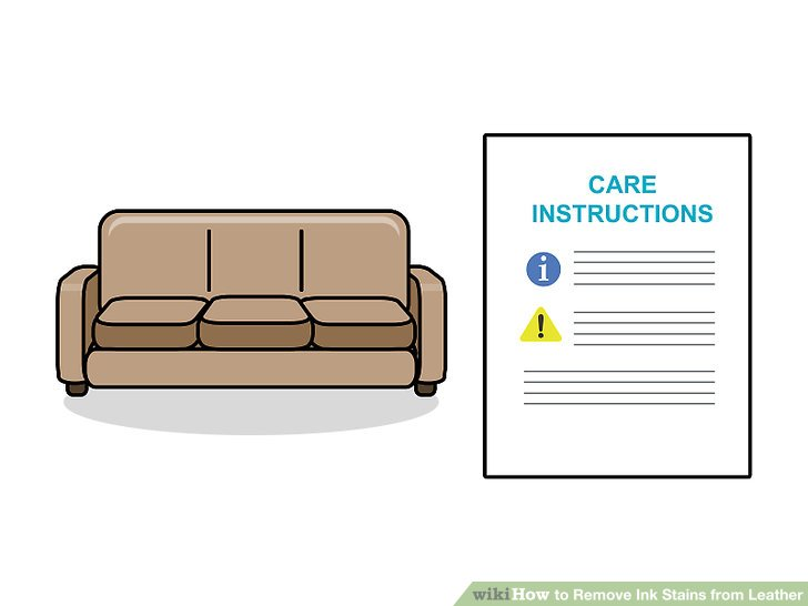 how to get rid of ink marks on leather sofa make your own loose covers 3 ways remove stains from wikihow image titled step