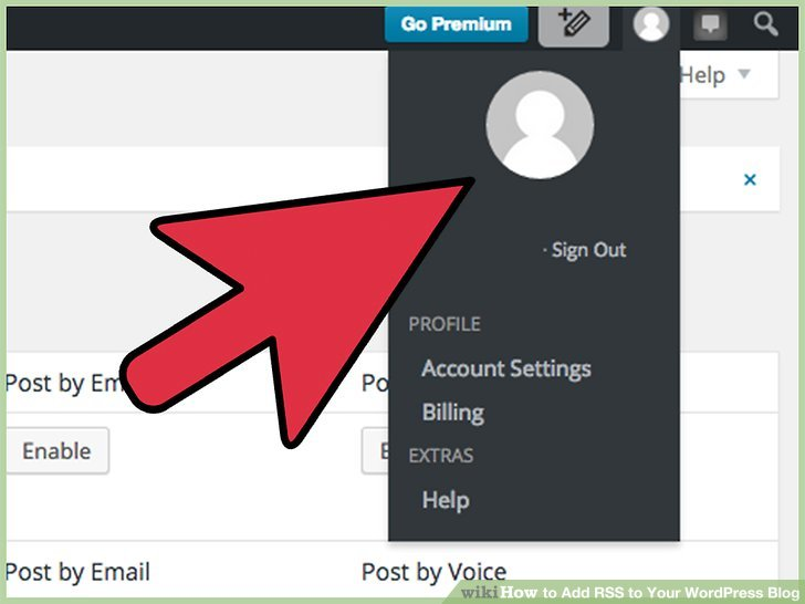 Click on your name or profile on the right side of the tool bar at the top of the page.