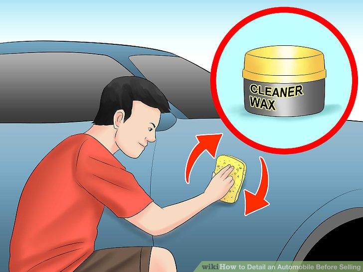 Sobald das Fahrzeug trocken ist, tragen Sie eine Wachsschicht auf.