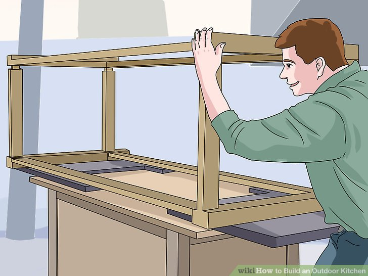 How to Build an Outdoor Kitchen with Pictures  wikiHow