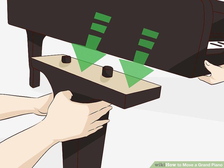 Entfernen Sie alle Klavierbeine.
