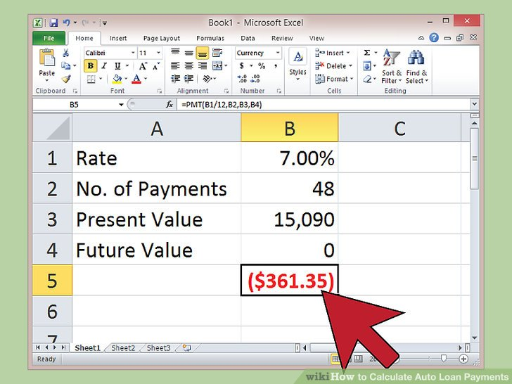 How To Figure Car Payment >> How To Calculate Interest On A Car Loan In Excel Resume