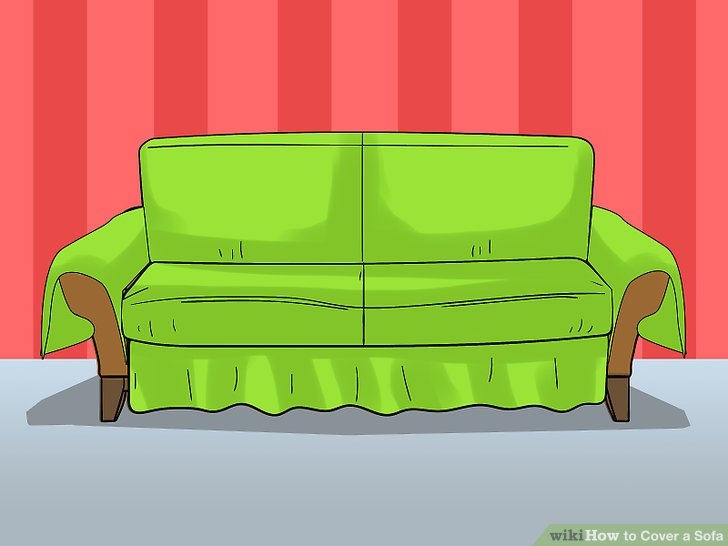 Place the fitted sheet over all of the cushions.