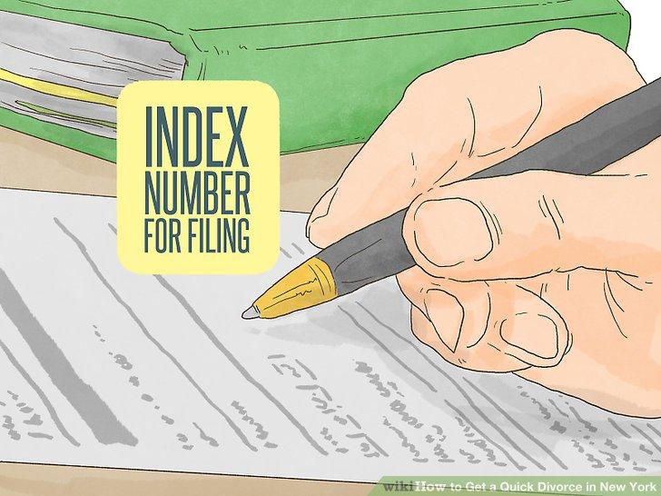 Bewerben Sie sich für eine Indexnummer und einen Kalender für Ihre Scheidung.