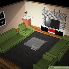 Living Room Furniture Arrangement Around A Tv Decoration Idea For With Brown Sofa How To Arrange Your (with Pictures) - Wikihow