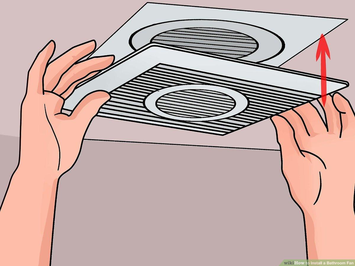 3 ways to install a bathroom fan wikihow