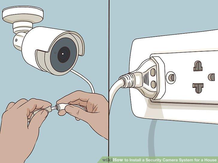 Schließen Sie Ihre Kamera an eine Stromquelle an.