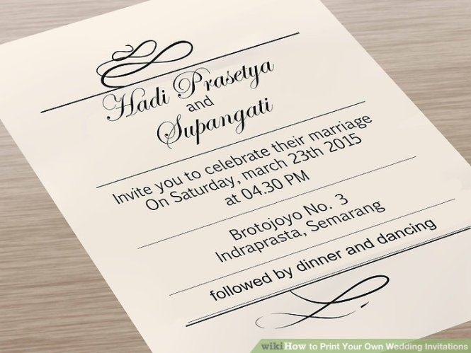 Wedding Invitations You Can Print
