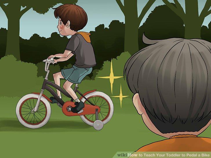 Demonstrieren Sie das Treten mit Ihrem eigenen Fahrrad.