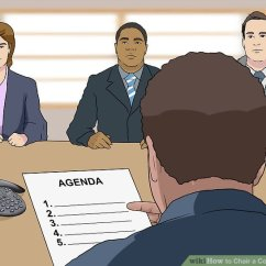 What Is A Chairperson In Meeting Best Big And Tall Office Chair Reviews How To Conference Call With Pictures Wikihow Image Titled Step 14