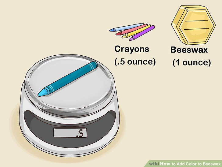 Measure your wax and crayons with a scale.