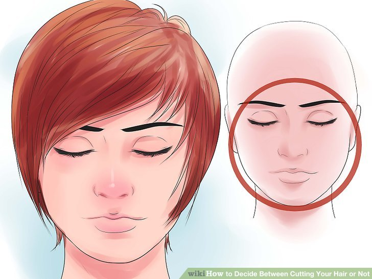 Go with layers on top or a longer length if you have a round face shape.