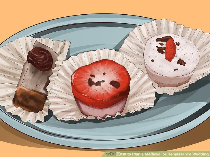 Mehrere Desserts servieren.