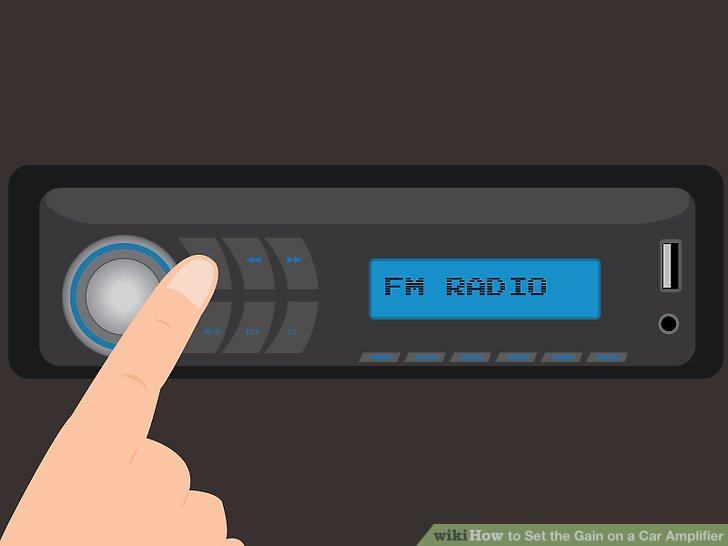 Schalten Sie Ihre Stereoanlage ein und spielen Sie entweder eine CD oder einen Radiosender.