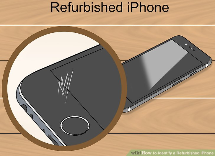 Identify general signs of a refurbished iPhone.