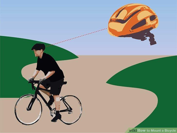 Trage einen Helm.