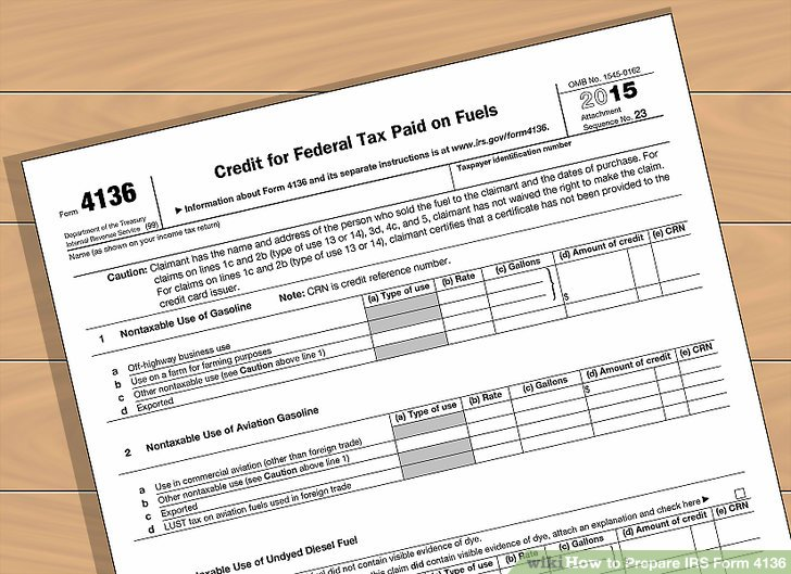 How To How To Prepare Irs Form 4136