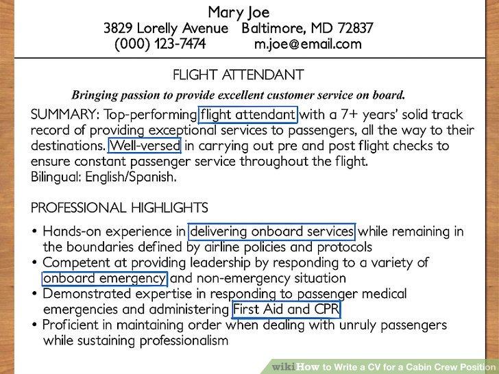 Method of writing application for job