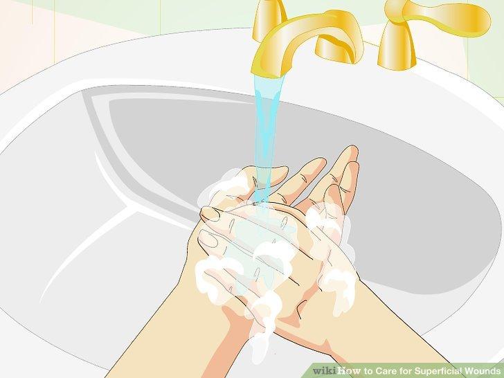Wasche deine Hände gründlich.