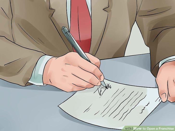 Unterschreiben Sie Ihren Vertrag mit dem Franchisenehmer.