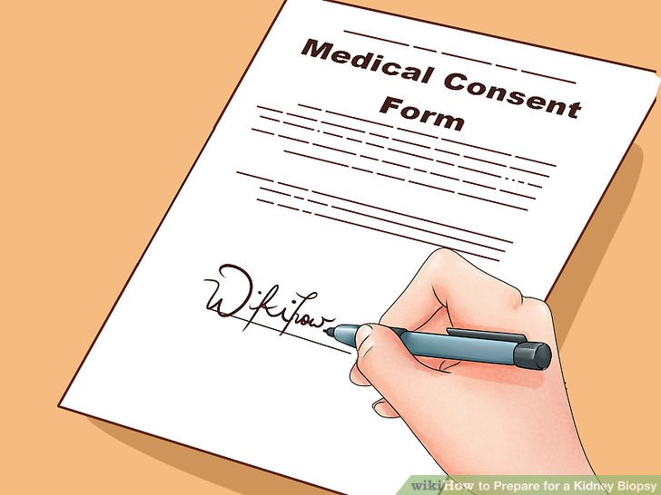 Sign the consent form.