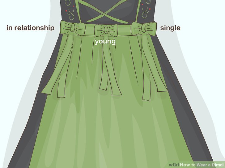 Tie the bow on the left side if you are single or the right if you are taken.