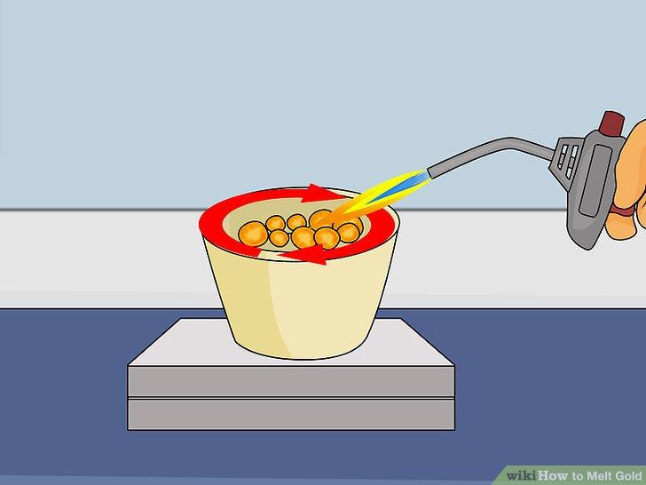 Versuchen Sie es mit einer Propanfackel, um Gold zu schmelzen.