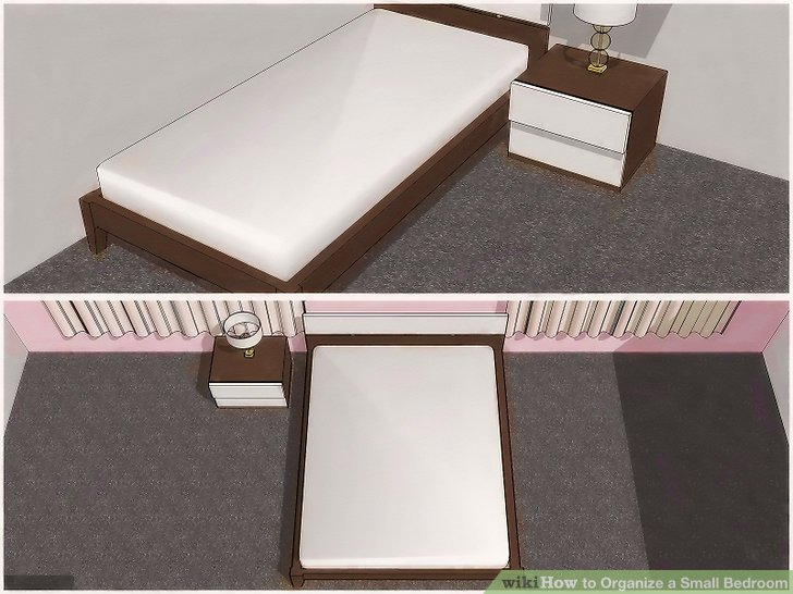 4 ways to organize a small bedroom - wikihow