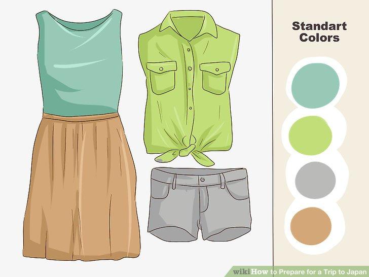 Wählen Sie Kleidung mit Standardfarben.