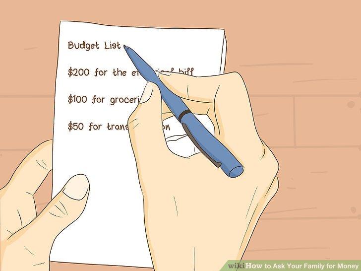 Erstellen Sie ein Ausgabenbudget für große Darlehen.