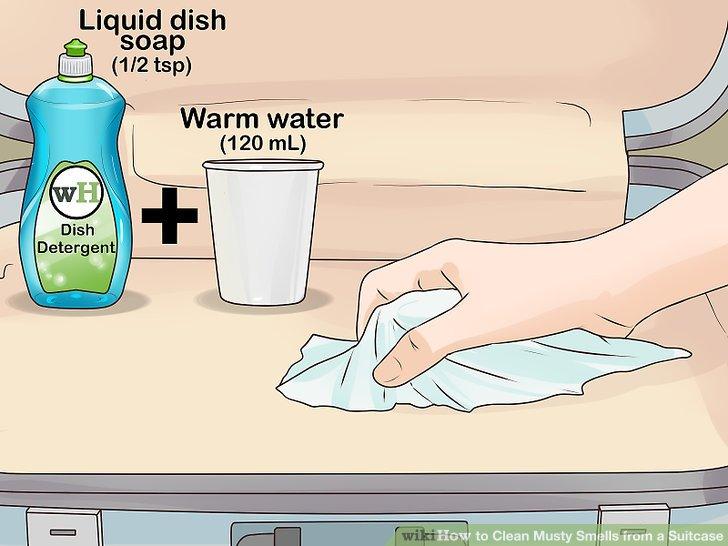 Wischen Sie es mit einer milden Reinigungslösung ab.