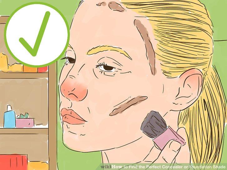 Gehen Sie 1-2 Nuancen dunkler als Ihre Hautfarbe für die Konturierung vor.