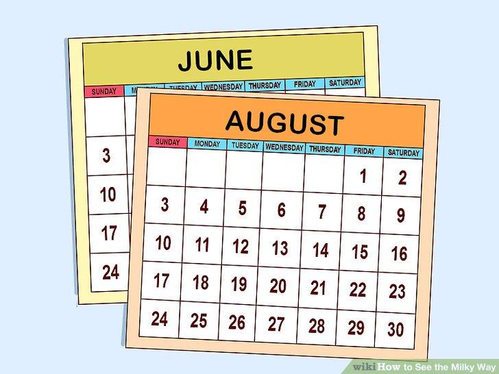 Suchen Sie zwischen Juni und August nach der Milchstraße.
