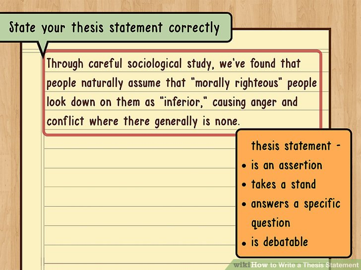 State your thesis statement correctly.