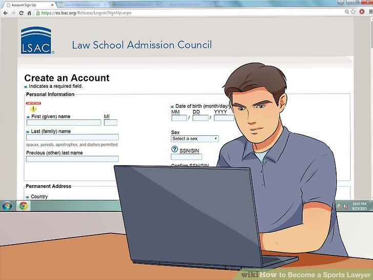 Registrieren Sie sich für den Law School Admission Test (LSAT).