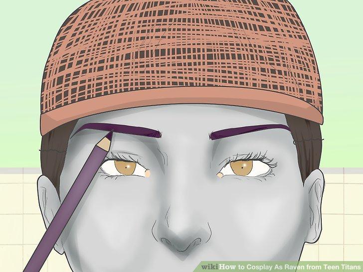 Farbe in deinen Augenbrauen, um deine Perücke zusammenzubringen.