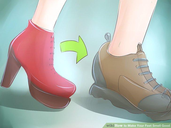 Wechseln Sie Ihre Schuhe, damit Sie nicht jeden Tag oder mehrere Tage hintereinander dasselbe Paar tragen.