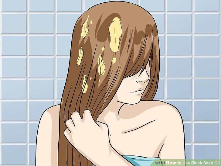Massage the oil into your hair.
